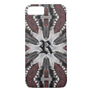 Rock Biker Western Studded tooled Leather iPhone 8/7 Case