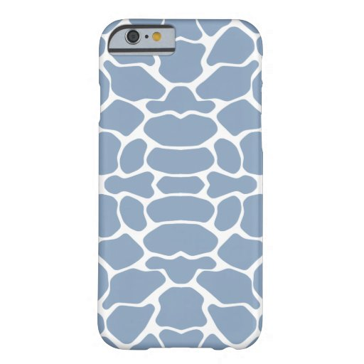 Rock Blue Safari Giraffe iPhone 6 Case