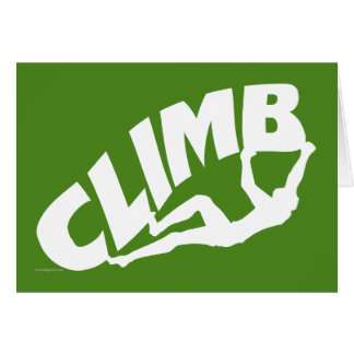Rock Bouldering Greeting Card
