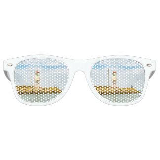 Rock Breakwater Salinas Ecuador Party Sunglasses