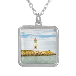 Rock Breakwater Salinas Ecuador Silver Plated Necklace