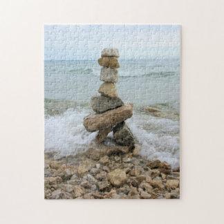 Rock Cairn (Pillar) Mackinac Island, Michigan Jigsaw Puzzle