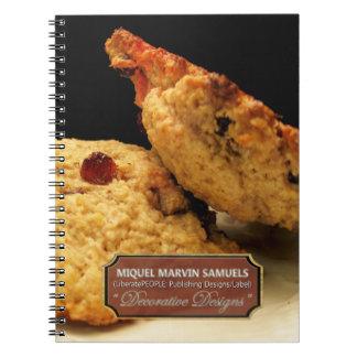 Rock Cake Decorative Modern Food Notebook