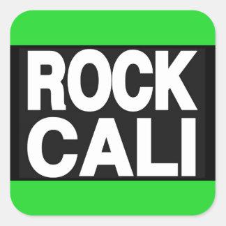 Rock Cali 2 Green Square Sticker