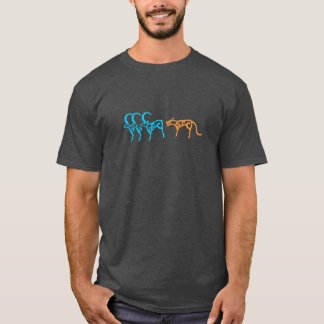 Rock carvings of Siberian animals T-Shirt