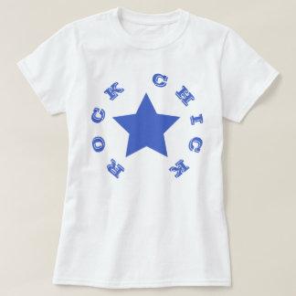 ROCK CHICK   Navy Blue Star Women's Basic T-Shirt