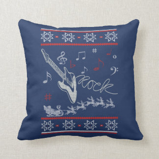 Rock Christmas Throw Pillow
