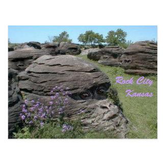 Rock City, Kansas Postcard
