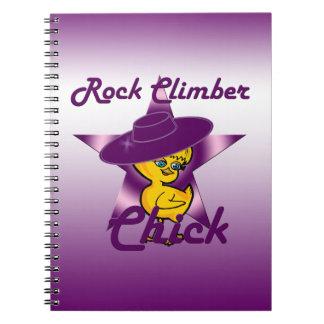 Rock Climber chick #9 Notebooks