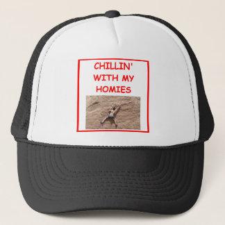 rock climber climbiing trucker hat