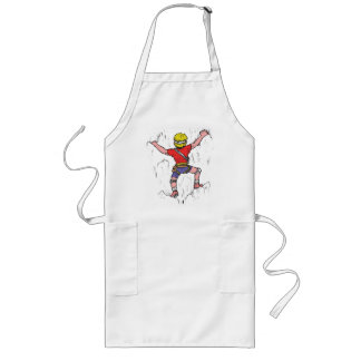 Rock Climber Climbing on T-Shirt Long Apron