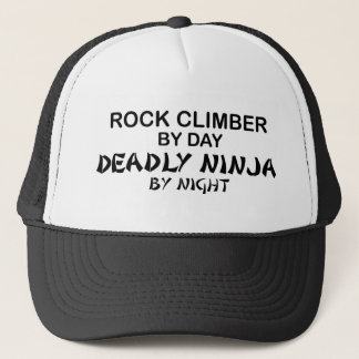 Rock Climber Deadly Ninja by Night Trucker Hat