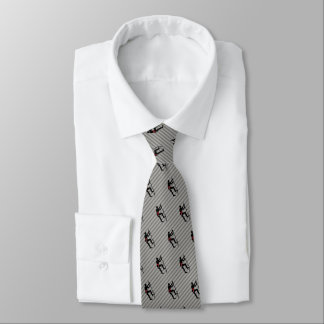 Rock Climber Scaling Mountain Face Logo on Striped Tie