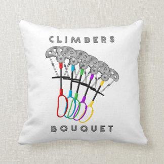 Rock Climbers Bouquet Throw Pillow