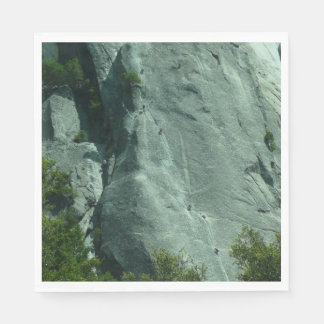 Rock Climbers on El Capitan Paper Napkin