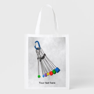 Rock Climbers Rack Of Wires Reusable Grocery Bag