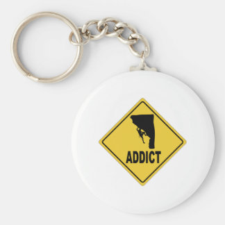 Rock Climbing 2 Basic Round Button Keychain