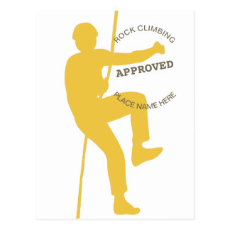 Rock Climbing Approved Postcard