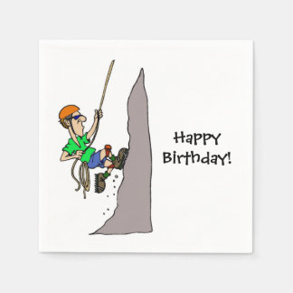 Rock Climbing Climber Party Paper Napkins