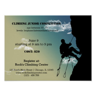 Rock Climbing competition Print