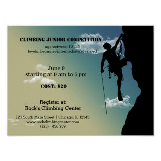 Rock Climbing competition Poster
