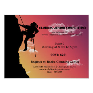 Rock Climbing competition Posters
