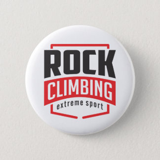Rock Climbing Extreme Sport 2 Inch Round Button