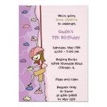 "Rock Climbing Invitation: Brunette 5"" X 7"" Invitation Card"