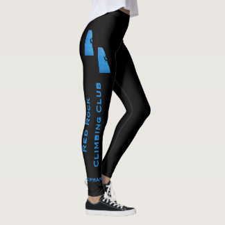 Rock Climbing Leggings with Club and Climber Name