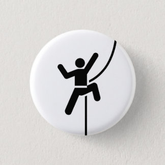 'Rock Climbing' Pictogram Button