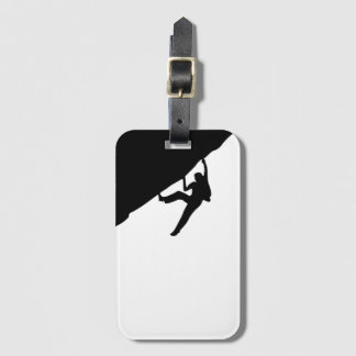 Rock Climbing Silhouette Luggage Tag