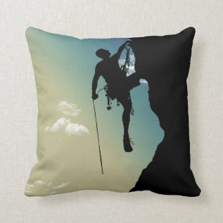 Rock Climbing Throw Pillow