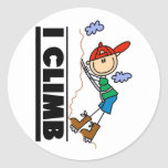 Rock Climbing Tshirts and Gifts Round Stickers