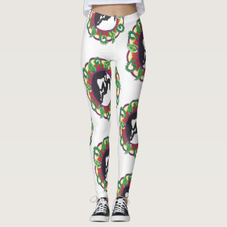 Rock Climbing Zen Girl Leggings
