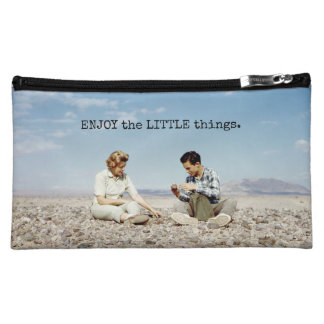 Rock Collecting Beach Rocks Cute Retro People Cosmetic Bags