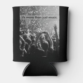 Rock Concert Audience Hands Grey & Black Music Can Cooler