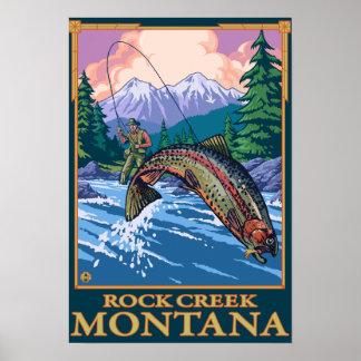 Rock Creek, MontanaFly Fishing Scene Poster