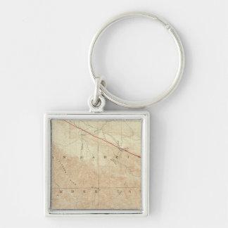 Rock Creek quadrangle showing San Andreas Rift Silver-Colored Square Keychain