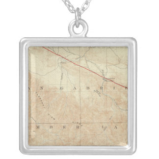 Rock Creek quadrangle showing San Andreas Rift Silver Plated Necklace
