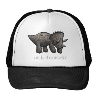 Rock Dinosaur Triceratops Trucker Hat