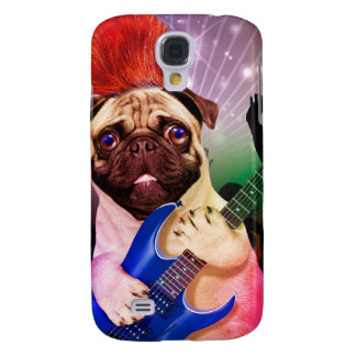 Rock dog - pug party - pug guitar - dog rocker