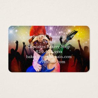 Rock dog - pug party - pug guitar - dog rocker business card