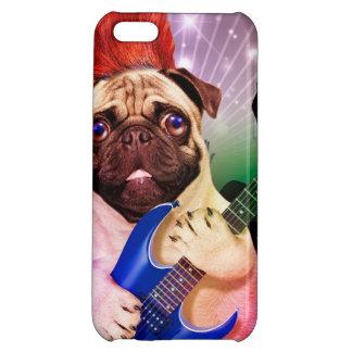 Rock dog - pug party - pug guitar - dog rocker case for iPhone 5C