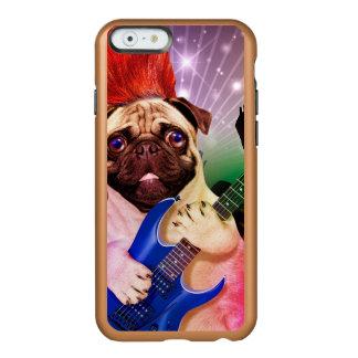 Rock dog - pug party - pug guitar - dog rocker incipio feather® shine iPhone 6 case