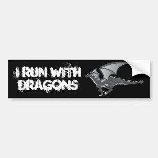 Rock Dragon Bumper Sticker