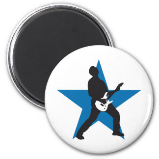 rock e-guitar more player 2 inch round magnet