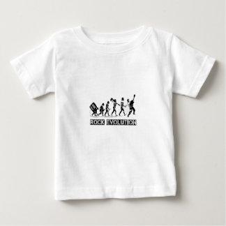 Rock Evolution funny design Baby T-Shirt