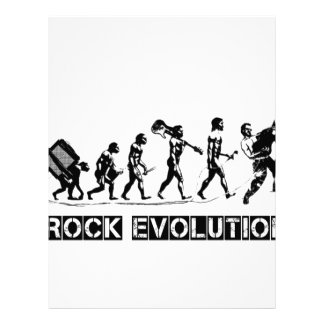 Rock Evolution funny design Letterhead