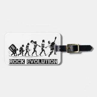 Rock Evolution funny design Luggage Tag