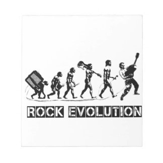 Rock Evolution funny design Notepad